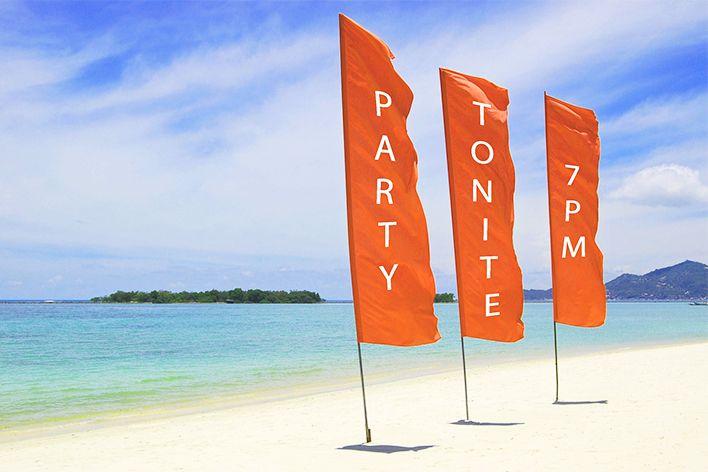 Fly banners personalizados Comprar mostrador feria