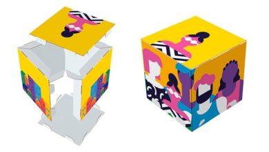 Cubos impresos cartón Displays personalizados