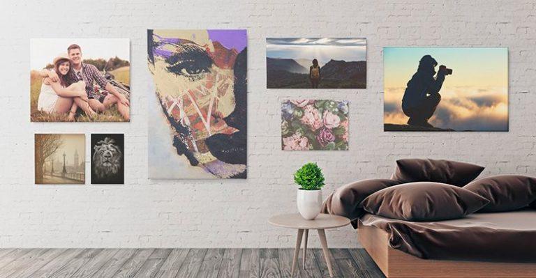 Fotografías sobre lienzo