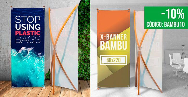 Xbanner bambú impreso