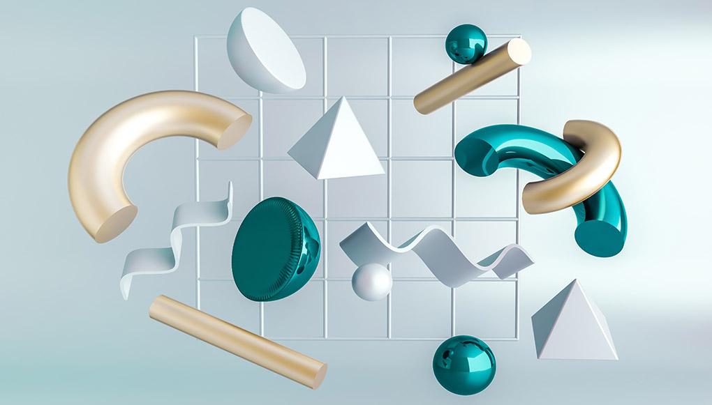 Tendencia  diseño gráfico colores metálicos
