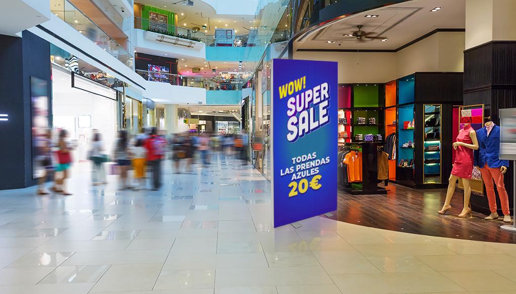 Displays luminosos publicidad punto de venta