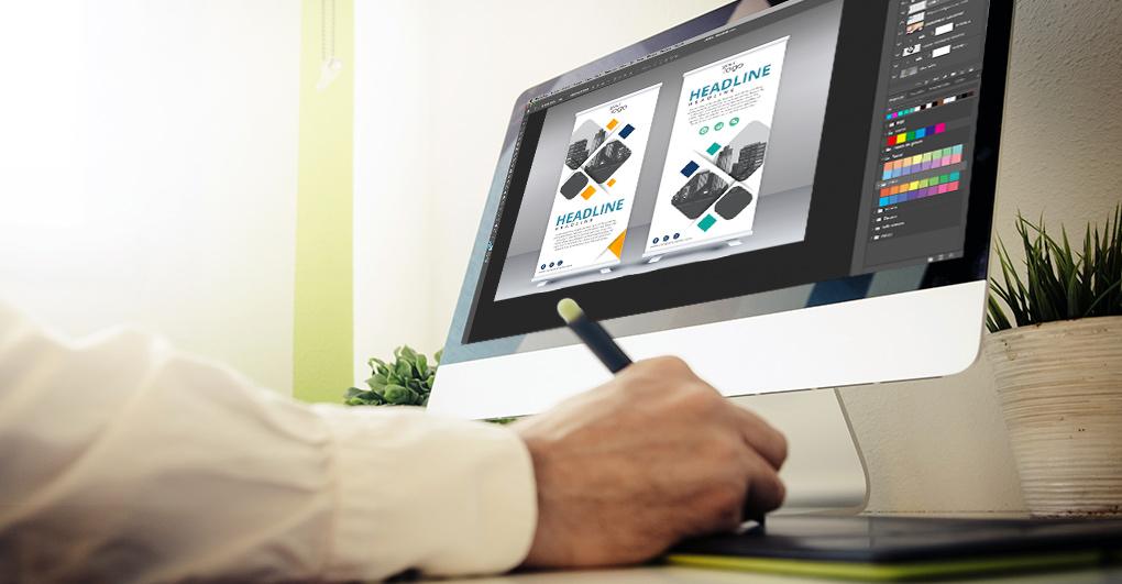 roll up publicitario diseño gráfico