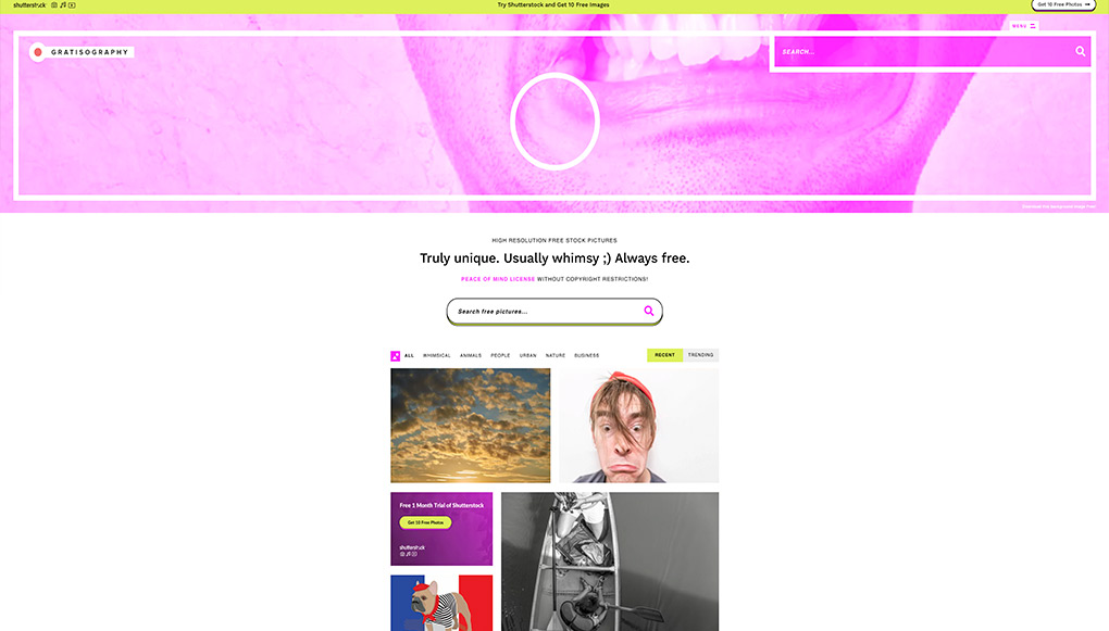 Bancos de imágenes Gratisography