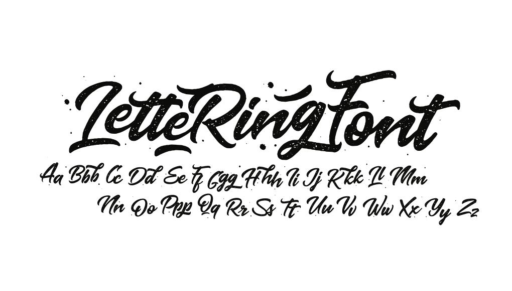 Lettering tipografia