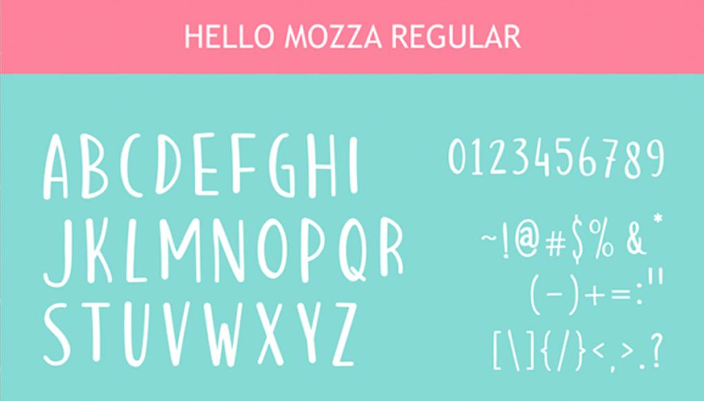 Tipografías hello mozza